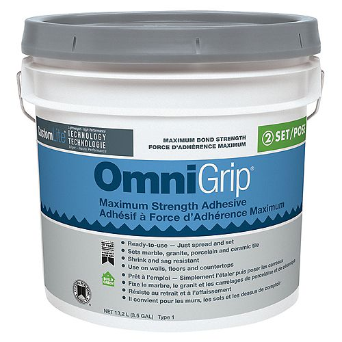 Custom Building Products Omnigrip Maximum Strength Adhesive 13.2L