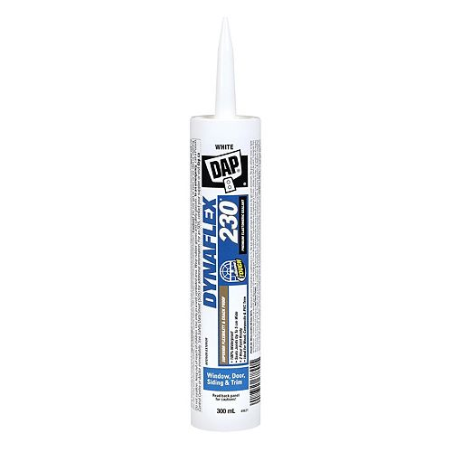 DAP DYNAFLEX 230 Premium 300 mL Indoor/Outdoor White Sealant