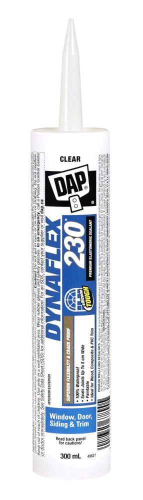 Mastic transparent élastomère de qualité supérieure Dynaflex 230, 300 ml.