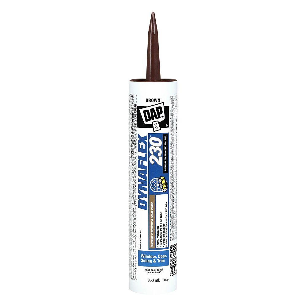 DAP DYNAFLEX 230 Premium Indoor/Outdoor Elastomeric Sealant - Brown - 300 ml