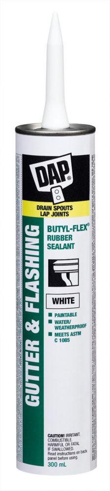Scellant pour gouttières et solins Butyl-Flex - Blanc - 300 ml
