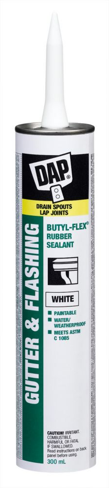 DAP Butyl-Flex Gutter and Flashing Sealant - White - 300 ml