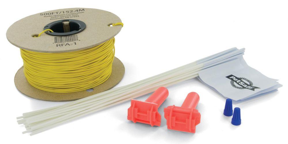 Trousse de câble et fanions à ajouter au système de confinement pour animaux In-Ground Radio Fenc...