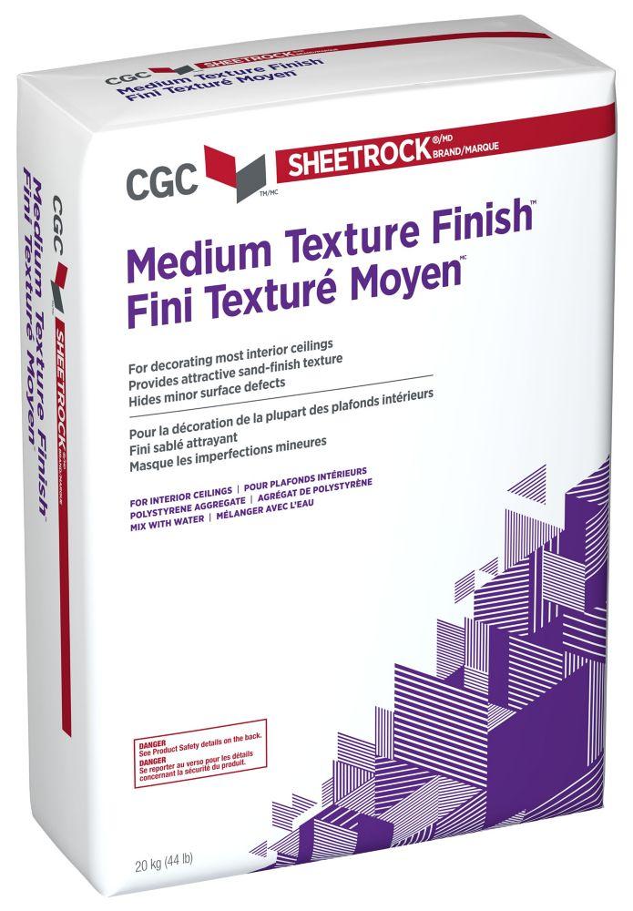 Texture à pulvériser pour plafond, texture moyenne, sac de 20 kg