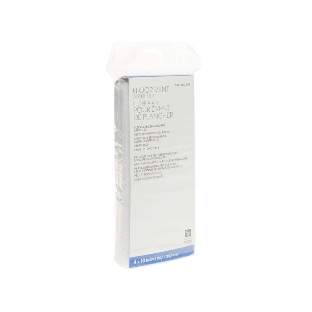 Filtre dévent découpable 4x10 PO (10X25 CM)