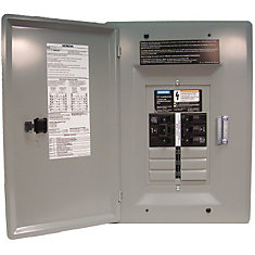 6/12 Circuit 30A 120/240V Generator Panel