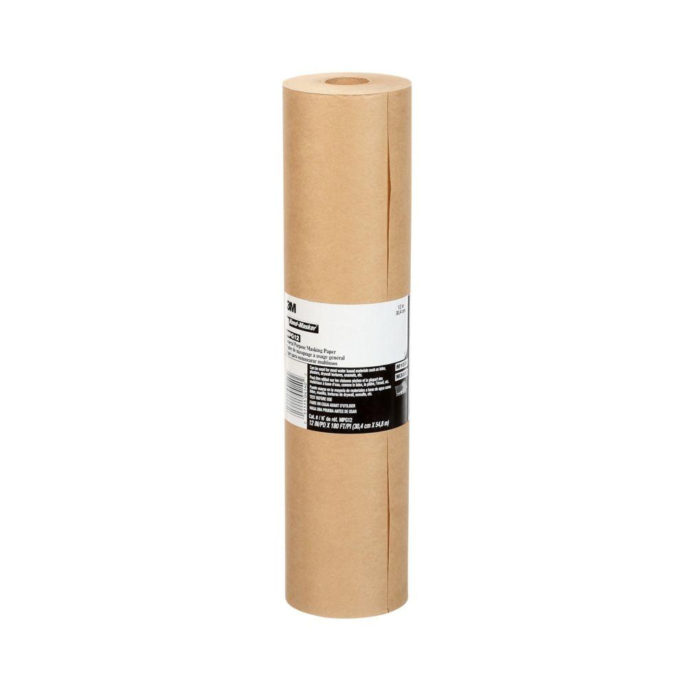 Rouleau de papier de masquage a usage general, 12po x 180pi