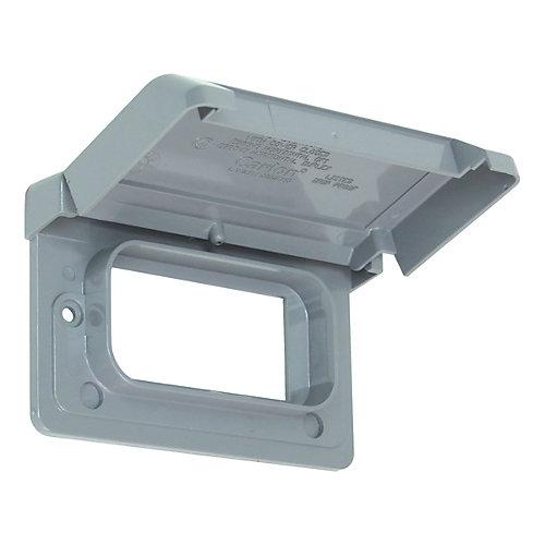 Couvercle Horizontal Étanche En PVC Pour Prise DDFT – Gris