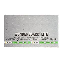 Custom Building Products Panneau dappui WonderBoard 6.35 mm x 91 cm x 152 cm