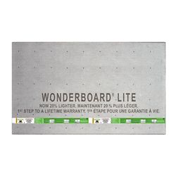 "Custom Building Products WonderBoard Backerboard 1/4""x36""x60"""
