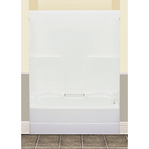 FW64S 59.50-inch x 76.50-inch x 32-inch fibreglass 2-Piece Left Hand Drain Tub & Shower