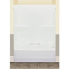 FW64S 59.50-inch x 76.50-inch x 32-inch fibreglass 2-Piece Left Hand Drain Tub & Shower