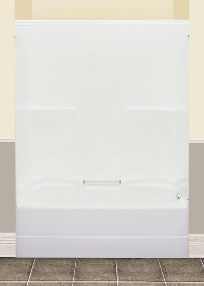 FW64S bain/douche rectangulaire - 2 pièces drain à gauche