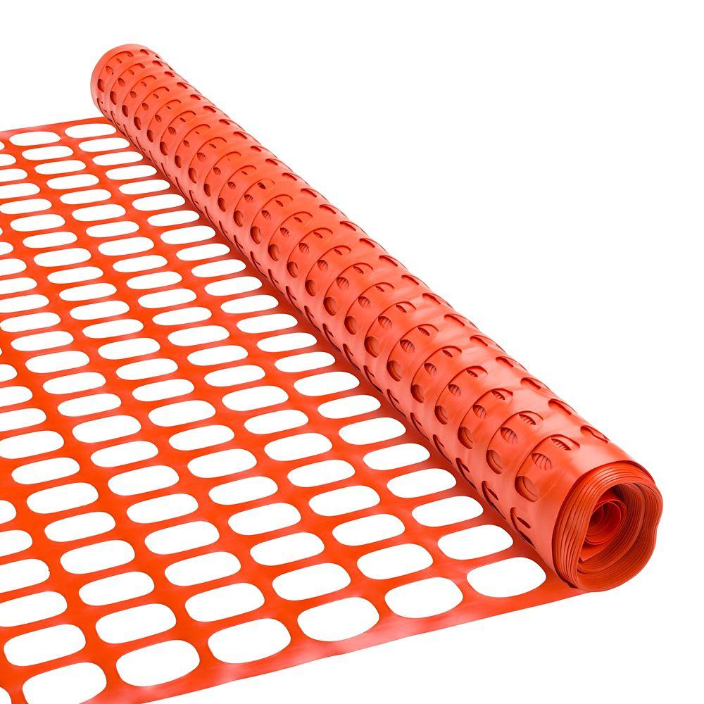 Clôture à neige 48 pouces x 50 pieds - Orange
