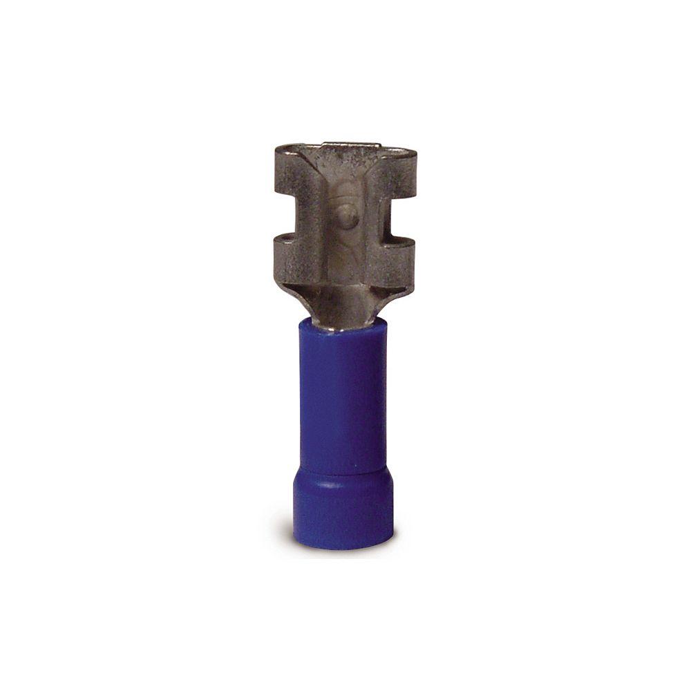 Gardner Bender Disconnect Vinyl-Insulated Barrel-Female 16-14 AWG Tab: 0.25 In Blue 100/Clam