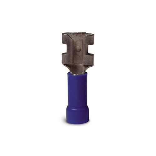 Gardner Bender Disconnect Vinyl-Insulated Barrel-Female 16-14 AWG Tab: 0.25 In Blue 100/Clam