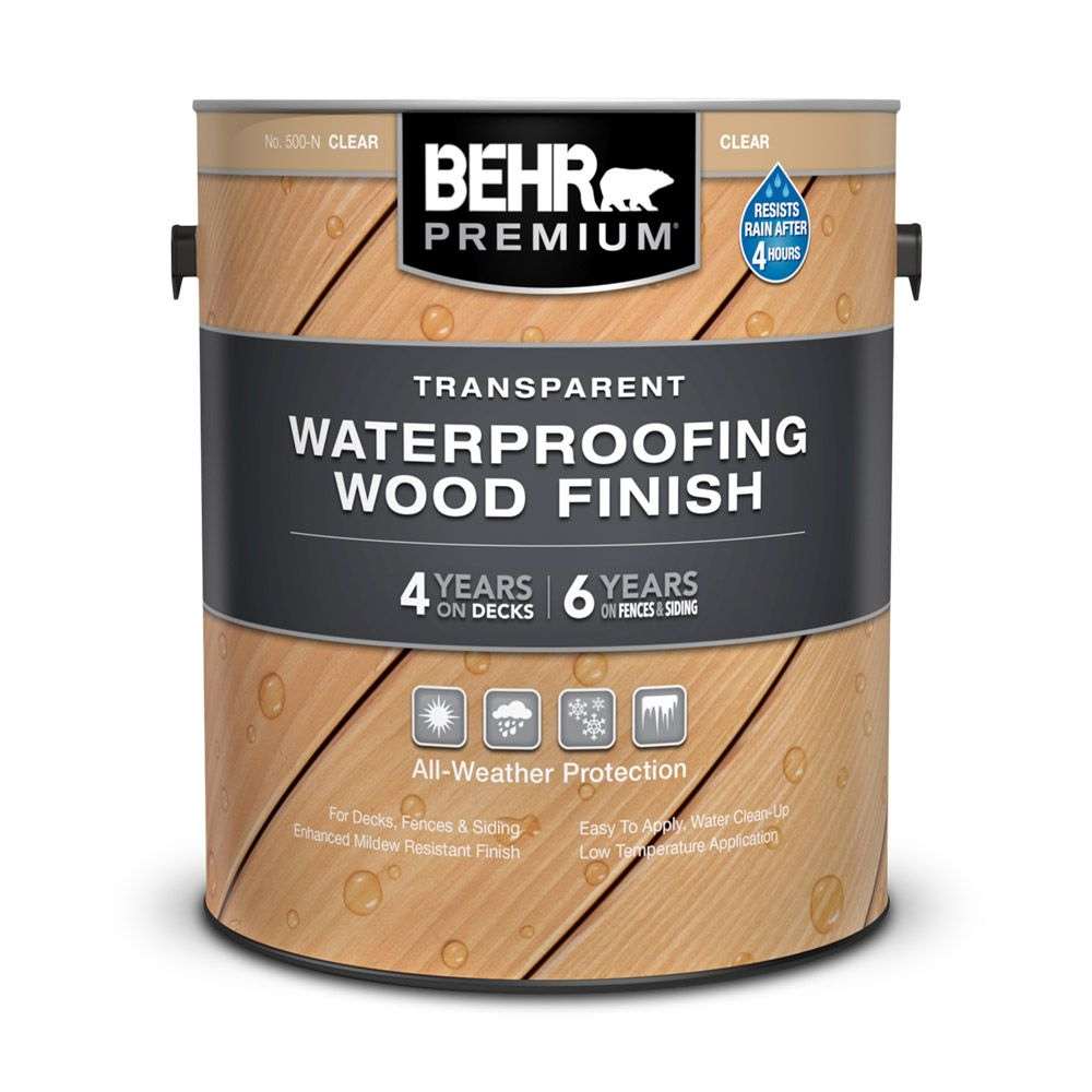 Behr BEHR PREMIUM TRANSPARENT WEATHERPROOFING WOOD FINISH, NATURAL, 3.67 L