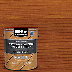 Premium Transparent Weatherproofing Wood Finish, Cedar Naturaltone, 3.79 L