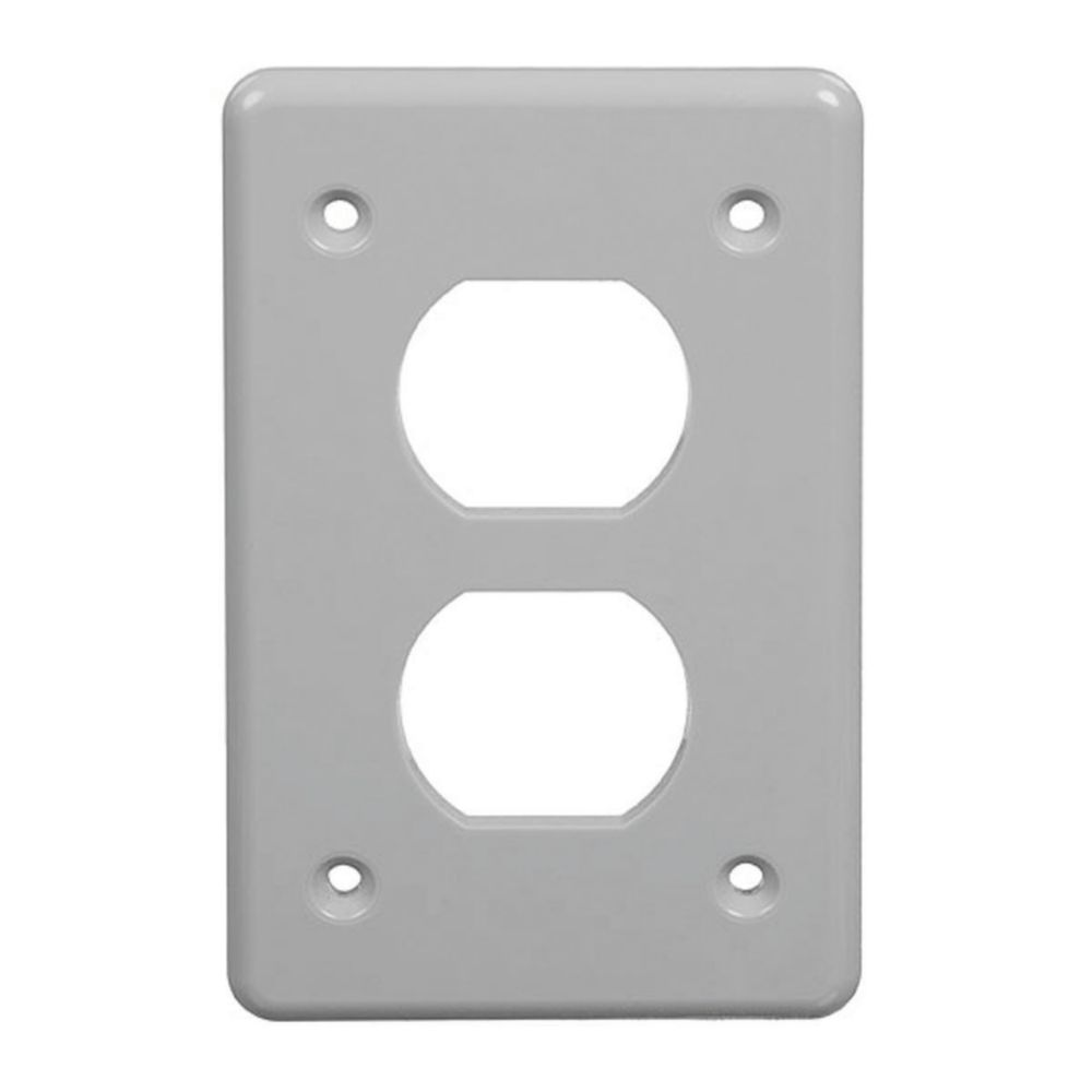 Single Gang Duplex Receptacle Vertical FS Cover