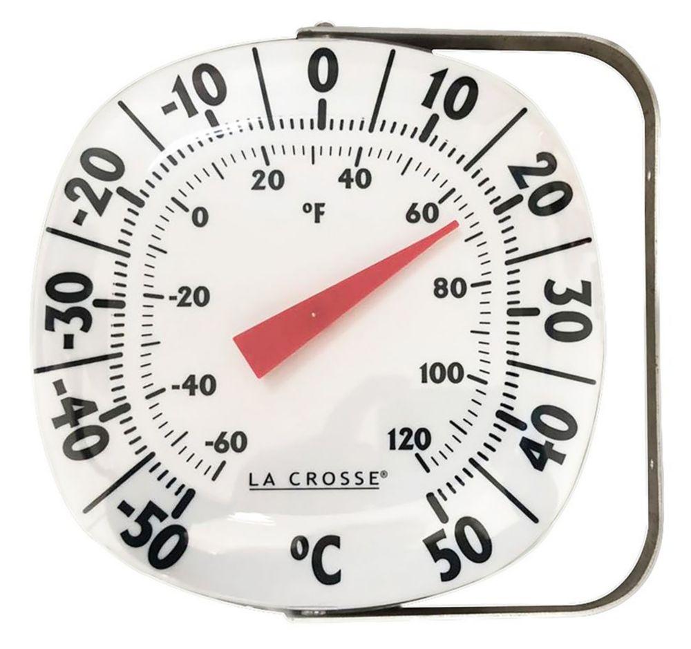 """Thermomètre d'intérieur/extérieur 7.5"""" avec support au mur"""