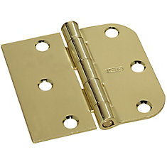 3 inchesX3 3/16 inches Revers. Door Hinge Brass
