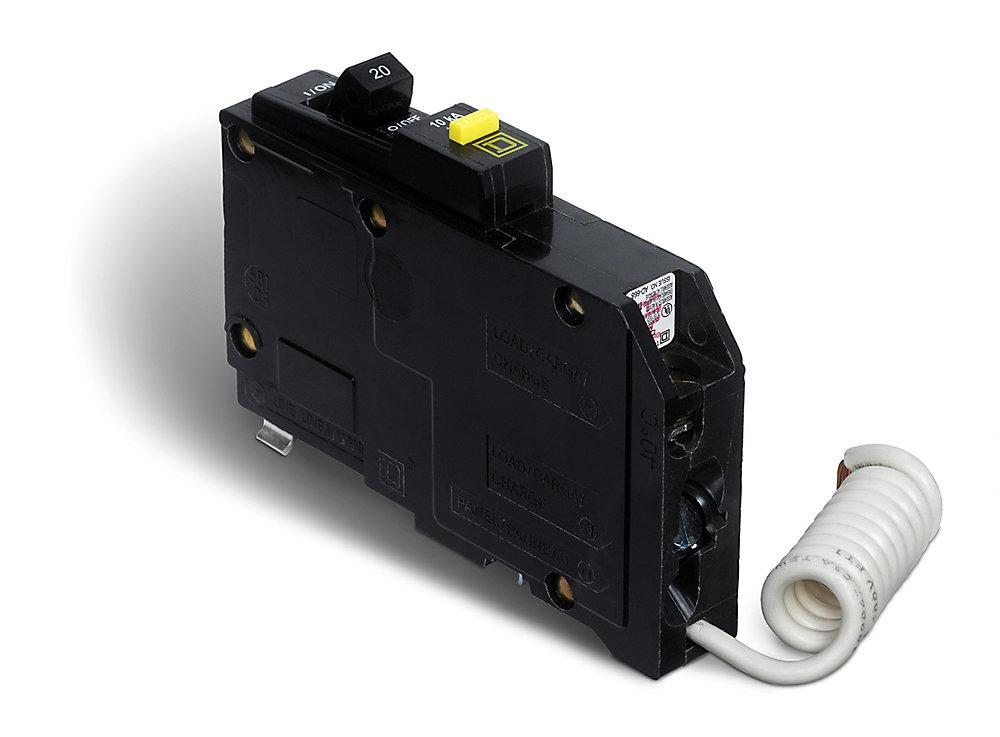 Schneider Electric - Square D Single Pole 20 Amp QO GFCI ...