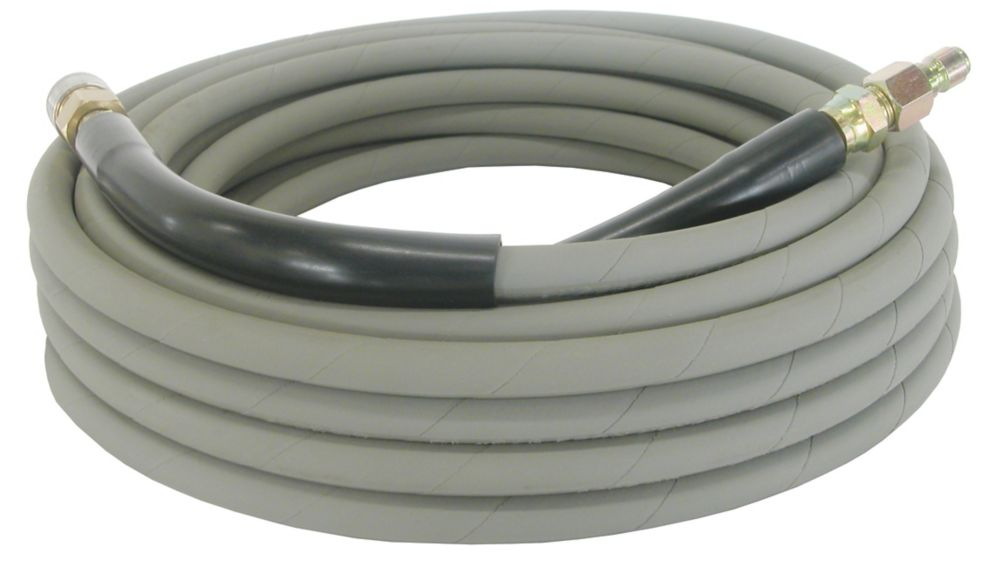 "Hose For Pressure Washers, Comes With 3/8"" Quick Connect Ends, 50' Length, Grey Non Marking"