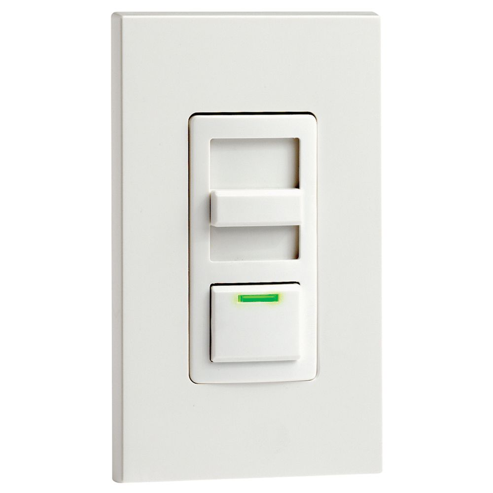 Decora Illumatech  Dimmer w/LED Locator and Preset Switch, White