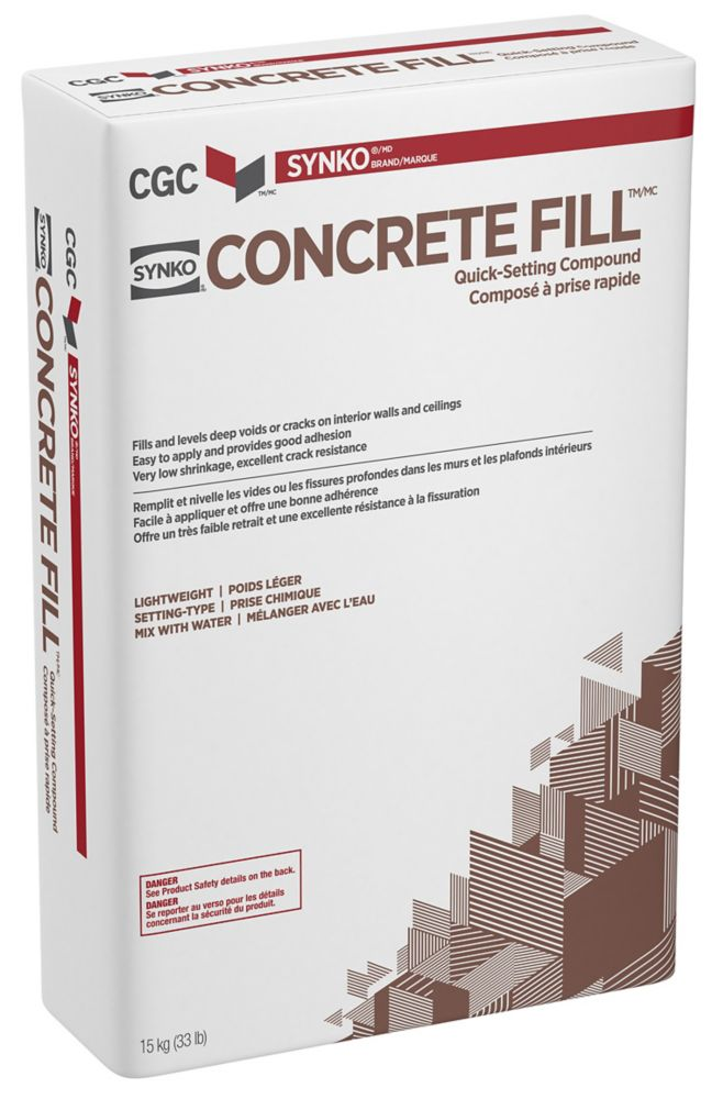Concrete Fill Wall and Ceiling Compound, 15 kg Bag