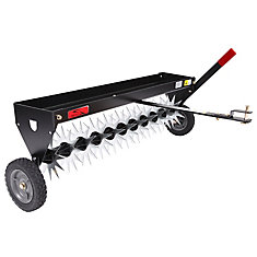 40-inch Tow-Behind Spike Aerator with Transport Wheels