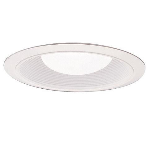 Déflecteur 310W blanc avec garniture blanc satiné, ouverture de 15 cm