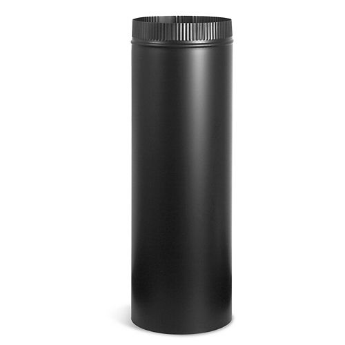 Imperial 7-inch x 36-inch Stove Pipe in Matte Black