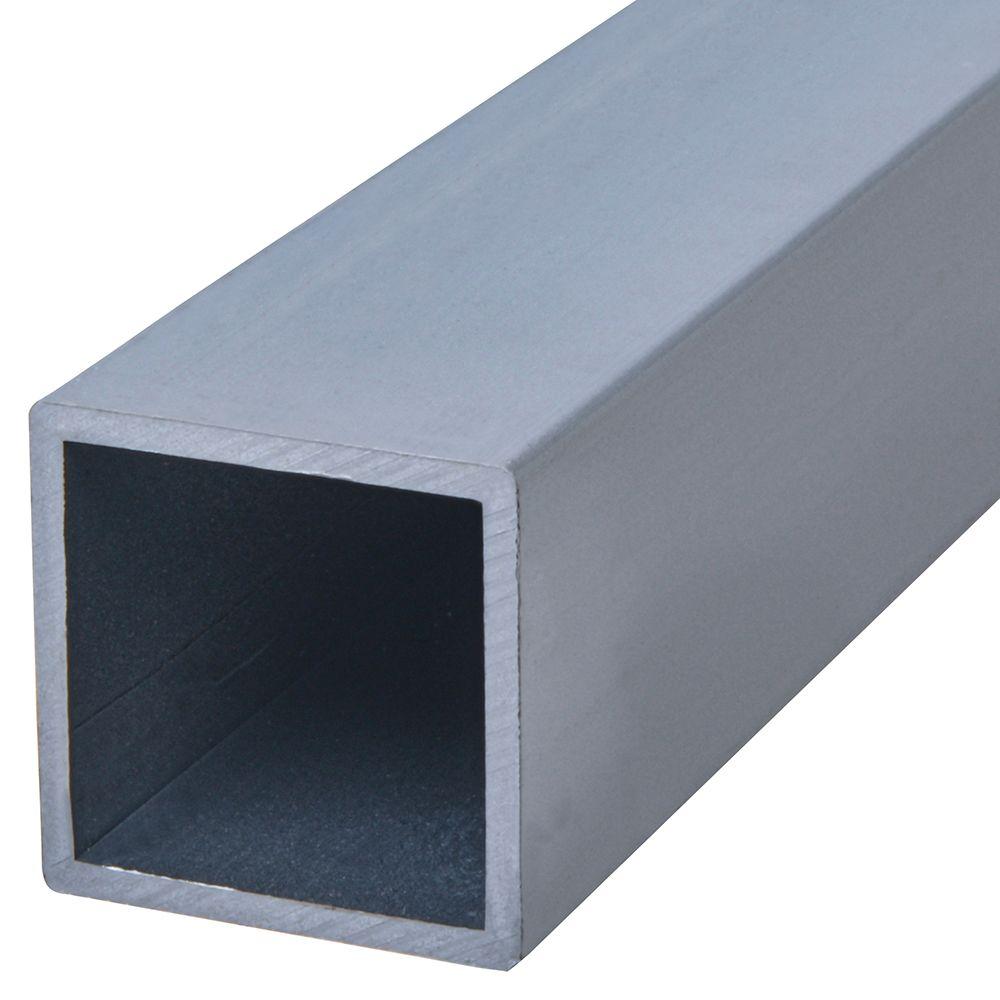 Tuyau carré 3/4X3 en aluminium