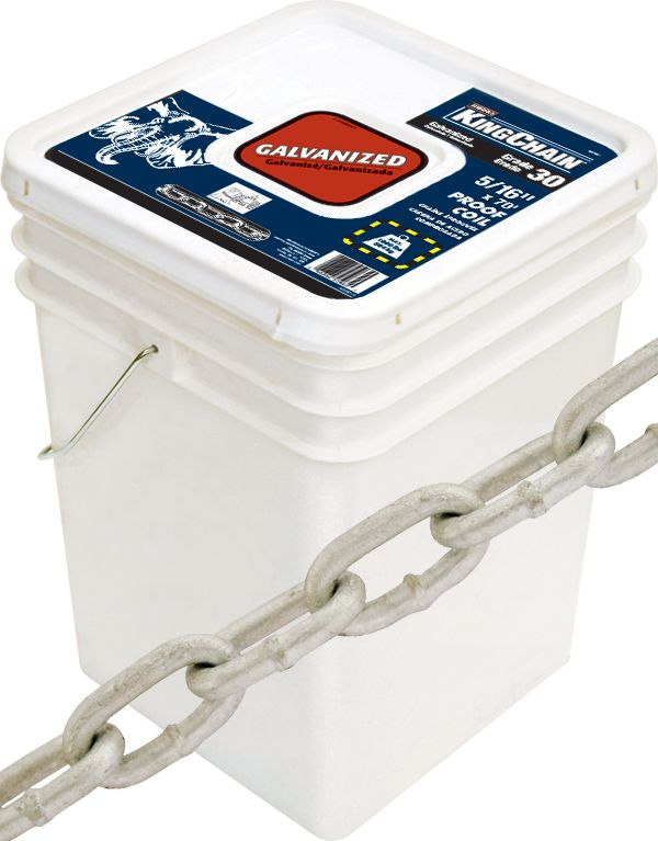 5/16 Inch x 70 Feet GR30 PROOF COIL CHAIN-GALVANIZED (sold per foot)