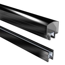 RailBlazers 4 ft. Black Hand and Base Rail