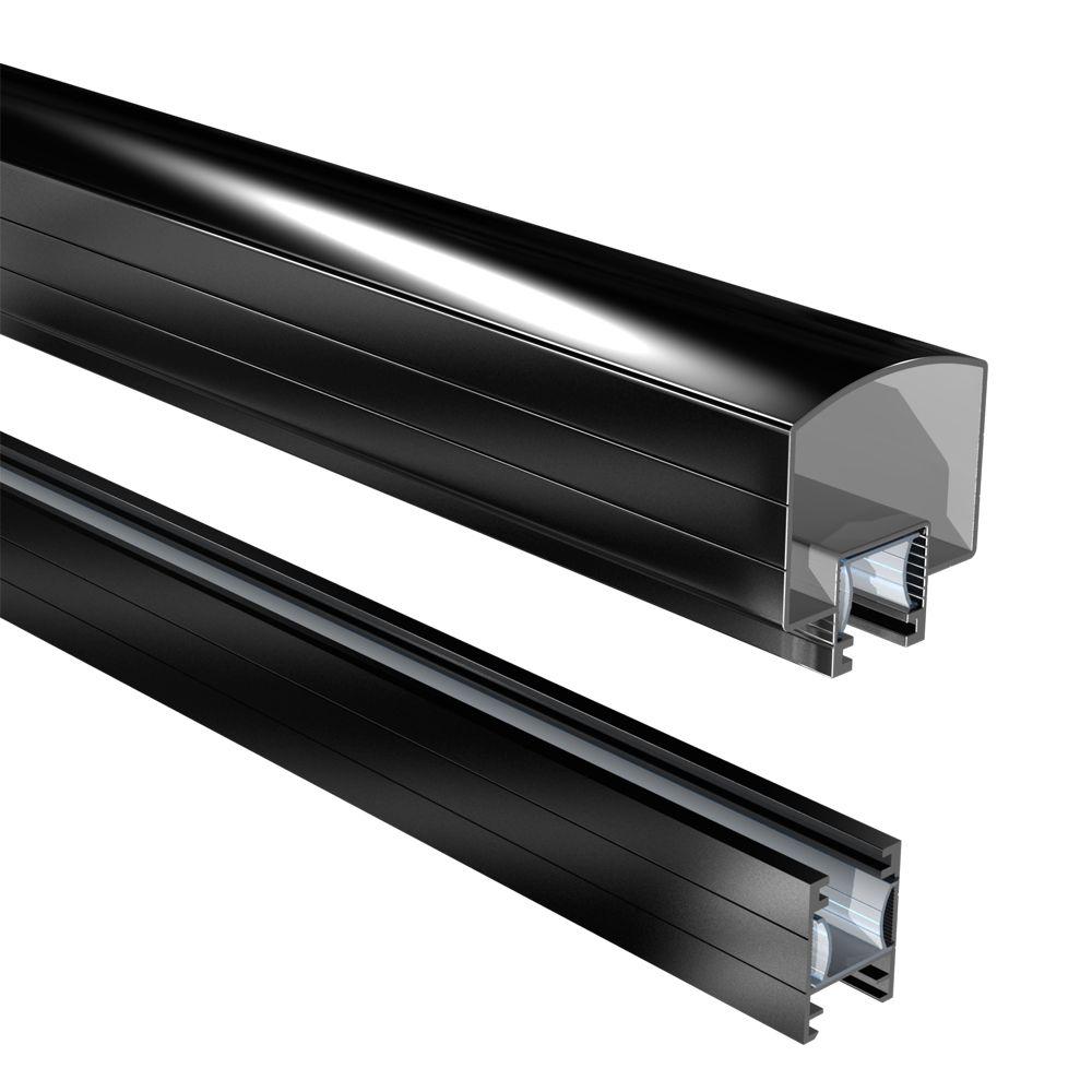 RailBlazers Hand And Base Rail, 6 Ft. - Black