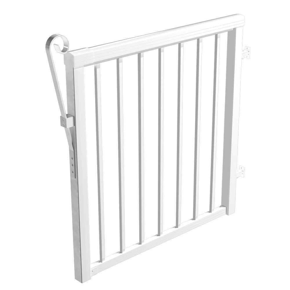 Barrière - pieux standards, 46 po. de large - Blanc