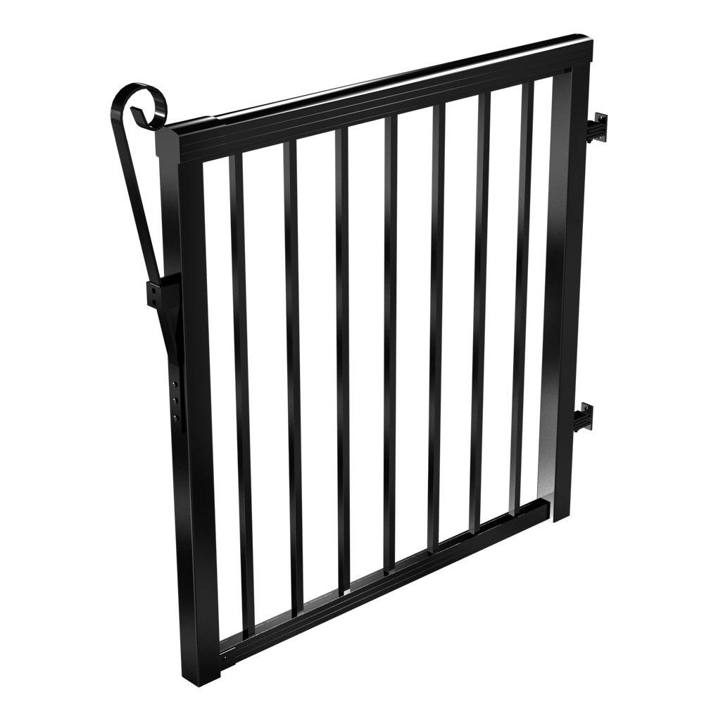 Barrière - pieux standards, 46 po. de large - Noir