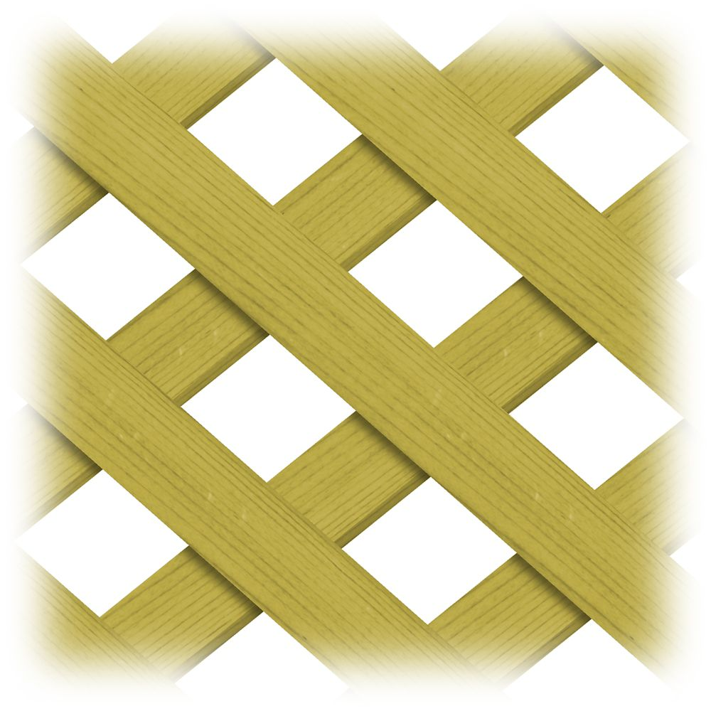 Treated Wood 4x8 Regular Lattice