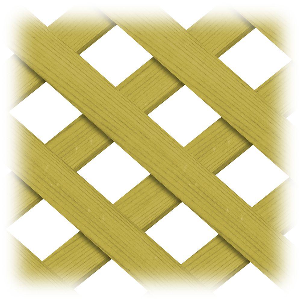 Treillis 4x8 régulier en bois traité