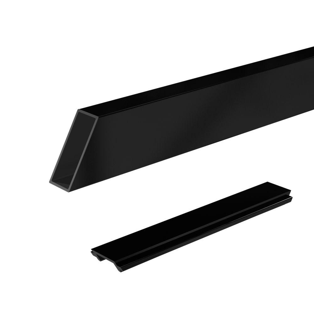 RailBlazers Wide Stair Picket & Spacer Kit, 6 Ft. - Black