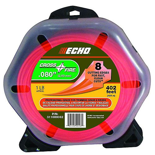 ECHO Cross-Fire 402 ft. 0.080-inch Nylon Trimmer Line