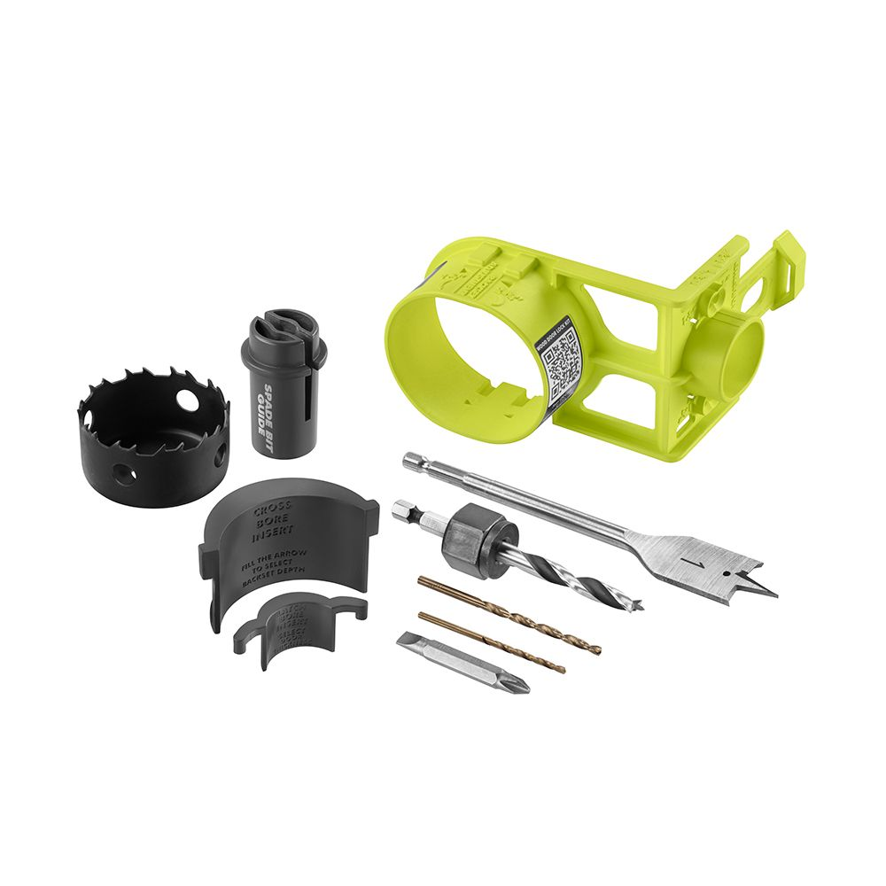 Door Knob Installation Kit : Ryobi door lock installation kit carbon the home depot