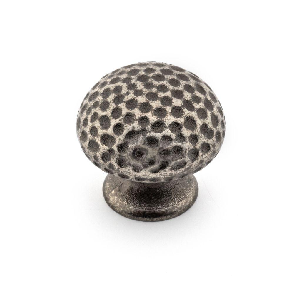 Transitional Metal Knob - Natural Iron - 33 mm Dia.