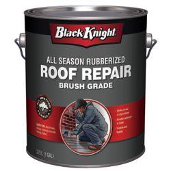 Black Knight Scellant à base de bitume caoutchouté pour réparation de toiture toutes saisons, 3,78L