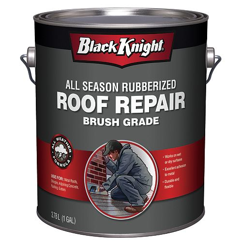 Black Knight 3.78L All Season Rubberized Premium Roof Repair Sealant