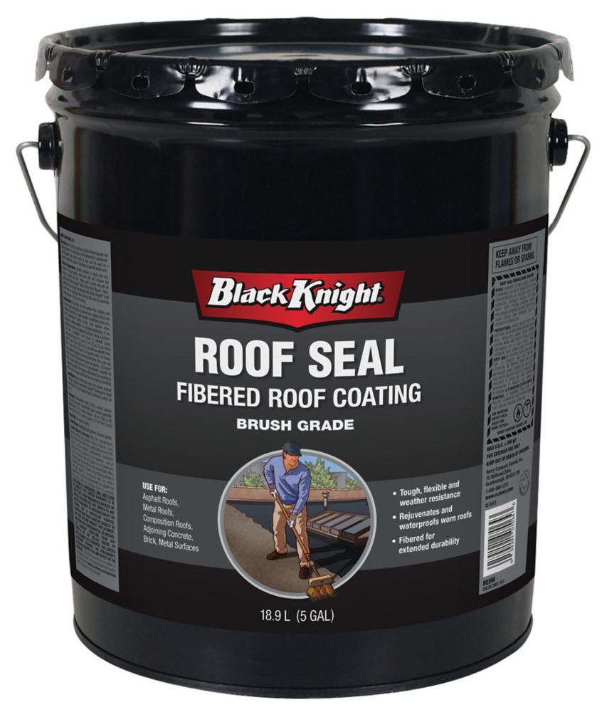 Black Knight 18.9L Fibered Roof Coating Roof Seal