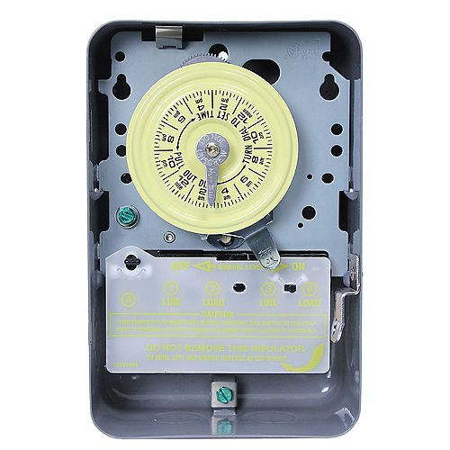 Intermatic 40 Amp 208-277-Volt DPST 24-Hour Mechanical Time Switch with Indoor Enclosure