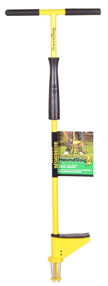 Hound Dogs One-Piece Steel T-Top Handled Weeder with Slide Ejector