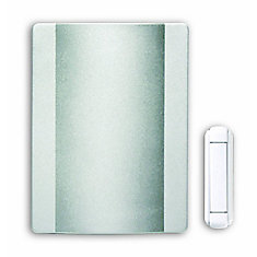 Wireless Battery Operated Door Chime Kit With Satin Nickel Finish Cover